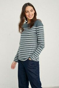 Seasalt Sailor Top Falmouth Breton Nickel Chalk Size 18 New With Tags