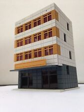 Outland Models Railway Colored Modern City Building 4-Story Office Grey N Scale