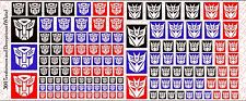 Decals: Transformer and Decepticons logos - Waterslide Decals White Logos
