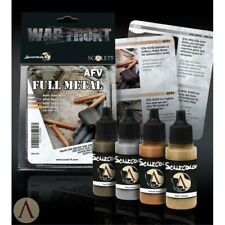 Scale 75 War Front AFV Full Metal Colours WW2 Acrylic Paint Set 4 Bottles