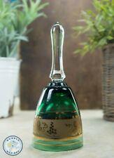 More details for bohemian glass bell green gold gilding ornate design