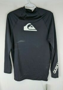 Quicksilver All Time Short Sleeve Sun Shirt, Black, Men's Medium