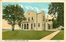 Mississippi, MS, Gulfport, Elks Club on the Beach 1920's Postcard