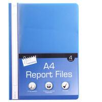 4 X A4 Negocios Informe Presentación Archivos Metal Etiquetas Azul, Amarillo,