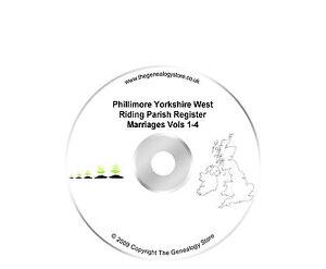 Phillimore Yorkshire West Riding Parish Register Marriages Vols 1-4