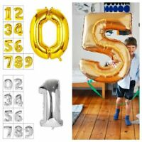 "40"" Giant Foil Balloons Number Shape Helium Wedding Birthday Party Christmas SQ"
