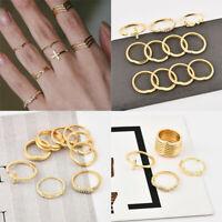 11 Pcs/set Gold Midi Finger Ring Set Vintage Punk Boho Knuckle Rings Jewelry