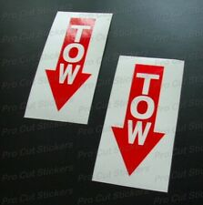 100mm (10cm) x2 TOW Car Stickers Decals Race Rally Trackday Racing Motorsport