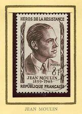STAMP / TIMBRE FRANCE OBLITERE N° 1100 HEROS DE LA RESISTANCE JEAN MOULIN