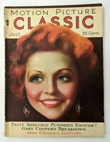 Motion Picture Classic Magazine July 1931 Nancy Carroll, Fatty Arbuckle