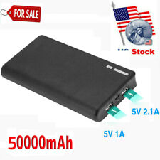 50000mAh Portable Power Bank Dual USB Battery Charger for iPhone 11 8 XR XS MAX