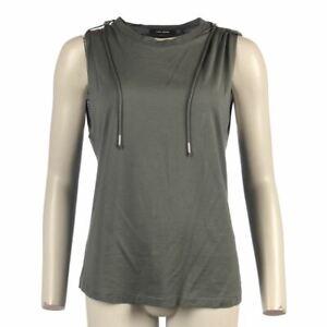 ISABEL MARANT Top Grey Cotton Sleeveless Oversized Size 34 / UK 6 NC 101