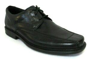 CLARKS MEN'S BLACK LEATHER OXFORD DRESS SHOES Size 9, #71729