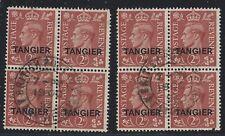 GREAT BRITAIN   TANGIER    SC 553    SG 283     USED     2 BLOCKS OF 4