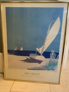 ERIC HOLCH GRANARY GALLERY NANTUCKET LARGE COLOR POSTER FRAMED HIGH AND DRY
