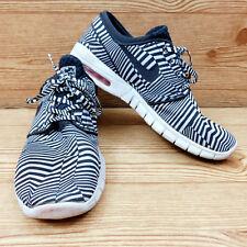 Nike Stefan Janoski Max QS Dazzle Air Zoom Black White Striped Shoes 12 Retired