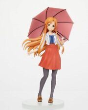 "Anime Sword Art Online Sao Yuuki Asuna Casual Dress w/Umbrella 6"" Action Figure"