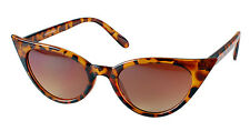 Rockabilly 50's Retro Style Pointy Pointed Sharp Cat Eye Tortoise Sunglasses