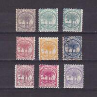 SAMOA 1886-1900, Sc# 9d-19h, CV $56, part set, 'Palms', plants, MH/NG/Used