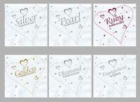 18 x Wedding Anniversary Engagement Party Heart Printed Napkins / Serviettes