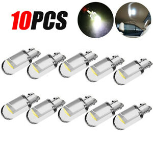 10x White Accessories LED T10 194 168 W5W Interior Map License Plate Light Bulbs
