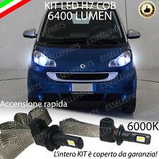 FULL LED SMART FORTWO 451 LAMPADE LED H7 6000K XENON BIANCO GHIACCIO