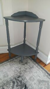 Corner Table / Plant Stand With Shelf Small Corner Accent Table Condition Used