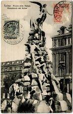 1942 Torino - Piazza dello Statuto Monumento del Freius Brandizzo - FP B/N VG