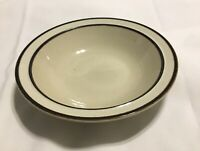 "VTG Sango Rainbow Stoneware CAPRI 651 Soup Cereal Bowl 7 1/2"" Brown Trim"