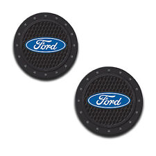 Ford Logo Auto Cup Holder Coaster 2 PC Set Item