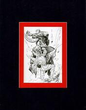 WORLD Of WARCRAFT FINAL SKETCH PRINT PROFESSIONALLY MATTED Jim Lee art