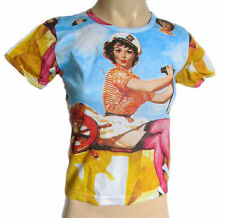 Magliette da donna a manica corta misto cotone taglia S