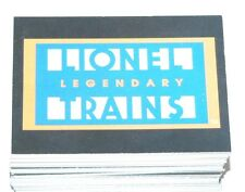 Lionel Legendary Trains by DuoCards in 1997. Complete 72 card base set.