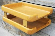 Vintage 1985 Tiered Eldon Woodline Desk Tray File Folder Holder Organizer