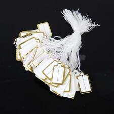 500pc  Jewelry Necklace Ring Watch Cloth Price Tags Display Label Sticker String