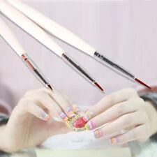 3X Neu Pinsel Sets Nail Art Pinsel Nageldesign UV Gel Pinsel Pro PPJJ