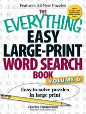 The Everything Easy Large-Print Word Search Book, Volume 6: Easy-to-solve Puzzle