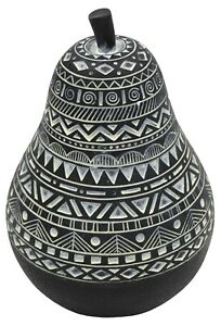 19cm Decorative Fruit Black & White Pear Large Pear Home Decor
