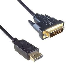 1,8 m DisplayPort prise à DVI-D 24 +1 MALE-MALE Plug Câble vidéo numérique uk