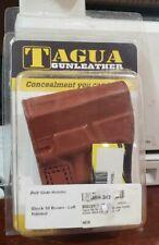 Tagua BSH-343 Leather Belt Slide Holster Glock 30, Brown, Left Hand