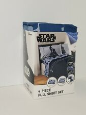 STAR WARS 4 PIECE FULL/ SHEET SET w/1 flat/1 fitted 2 pillowcases (Disney) Kids
