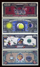 SET USA Fantasy 4 notes 2004, Chinese Dragon, Sun-Moon, Butterfly, Sea Shells