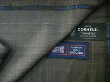 "DORMEUIL 95%WOOL+5%CASHMERE SUITING FABRIC""CASHMERE TOWNTX"" MADE IN ENGLAND-3.4m"