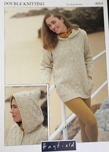 Hayfield  DK  Knitting Pattern 4004 ladies  Hooded Jacket Cardigan