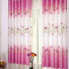 Pink Butterfly Childrens Finished Curtain Kids Door Window Bedroom Curtains