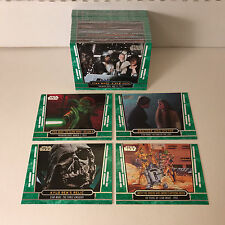 STAR WARS 40th ANNIVERSARY GREEN PARALLEL CARD SET Topps 2017 Complete (#1-#100)