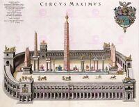 Painting Landmark Blaeu Circus Maximus Ancient Rome Replica Canvas Art Print