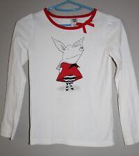 Gymboree Olivia the Pig Front & Back Shirt Size 7 VGUC