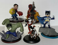 "5 Q-Fig Loot Crate 4"" Figure Lot Batman Deadpool Hulk Harley Quinn Dr Strange"
