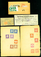 Italy 40+ Century Old Revenue Stamps On Paper